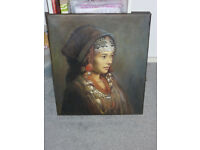 Lovely painting portrait Indian Lady