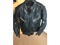 Motorcycle clothing leather and textile