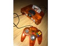 N64 Nintendo 64 fire orange 6 games