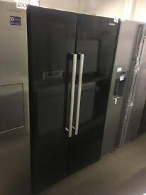 KENWOOD KSBSB15 American-Style Fridge Freezer - Black