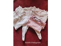 Babies babygrows 2 bundles 9-12 months