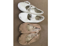 White tap & pink ballet shoes