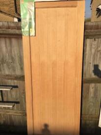 B&Q Southern unglazed interior door oak veneer 1981x762