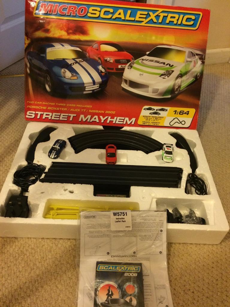 Microscalextric street mayhem set and Rally Masters set