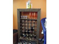 Handmade Rustic Wine Rack - 25 Bottles