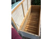 Painted Wooden Garden Storage Bench