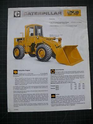 Cat Caterpillar 950b Wheel Loader Sales Brochure Manual
