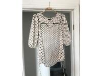 Floaty spotty blouse, never worn size 10