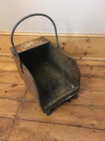 Vintage coal scuttle box / carrier