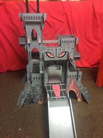 ELC wooden castle of doom with 2 sets of figures