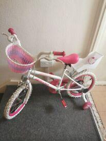 Pink girls bike 15 inch wheel & accessories