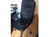 2 x Black Office Chairs (Sold separately or together)