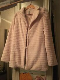 Faux fur coat medium