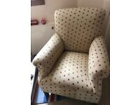Laura Ashley covered armchair