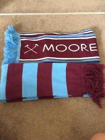 2 West Ham scarfs