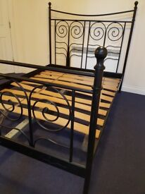 Metal Double Bed Frame black