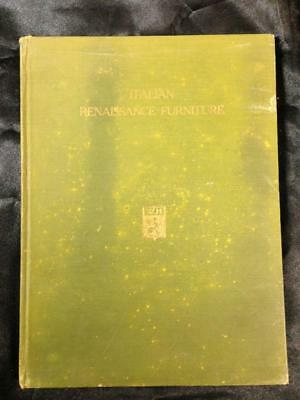 ITALIAN RENAISSANCE FURNITURE Wilhelm von Bode 1921 illustrated HC Photo Book for sale  Shipping to India