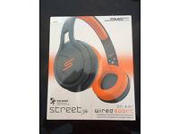 BNIB SMS Audio Street by 50cent Headphones Orange/Black