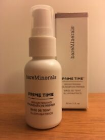 Bare Minerals Prime Time Brightening Foundation Primer 30ml - Used Only 3 Times