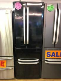 HOTPOINT FROST FREE QUOTTRO FRIDGE FREEZER IN BLACK