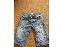 Topman skinny shorts uk 32