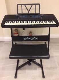 Pitch master keyboard & stool
