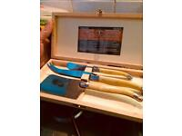 Original Laguiole 3pc Cheese set in wooden box