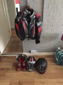 Richa biker jacket and boots