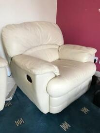 Single seater leather couch recliner