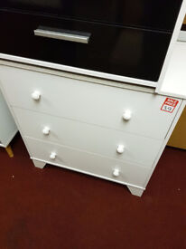 kinds 3 drawer chest white
