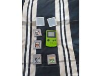 gameboy colour with 4 games