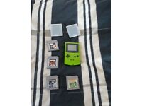 gameboy colour with 3 games