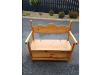 Mexican Pine Storage Bench