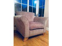 Barker & Stonehouse mauve armchair