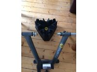 CycleOps turbo trainer with CycleOps riser block