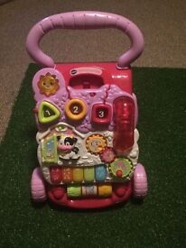 VTech first steps baby walker - pink (collection only)