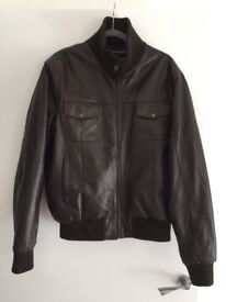 BRAND NEW Brown leather jacket XL Ilford/Islington