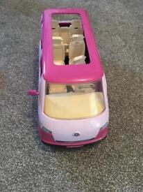 Vintage Barbie 6 seater people carrier transporter camper van car
