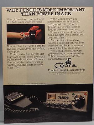 Vintage Magazine Ad Print Design Advertising Cobra CB Radio