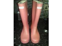PINK HUNTER WELLIES SIZE 5, WOMAN OR GIRL, FAB CONDITION