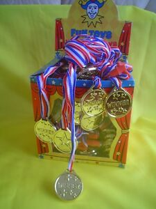 10  GOLD MEDALS FOOTBALL - LOOT /  PARTY BAG TOYS