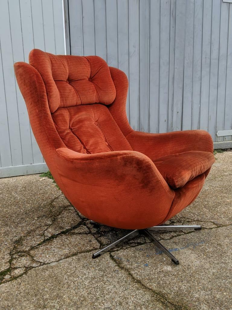 Fantastic Vintage Retro Swivel Chair In Brighton East Sussex Gumtree Creativecarmelina Interior Chair Design Creativecarmelinacom