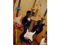 MARLIN. Strat style electric guitar Black/ White. Plays and works fine. vgc