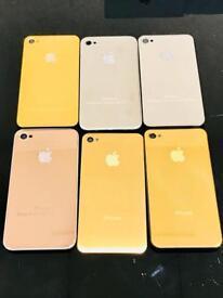 24ct Gold, 18ct Rose Gold, Platinum Plated, Swarovski Encrusted Machine Polished Back Plates iPhone