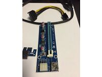 PCI riser for connect graphic card to PCI 1x slot