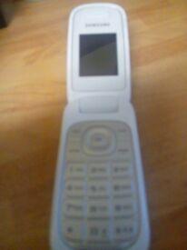 Samsung White flip phone