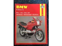 BMW K100 & K75 1983-87 HAYNES SERVICE MANUAL