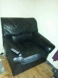 2 free black leather single seaters