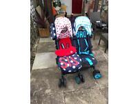 Cosatto sis & bro double pushchair