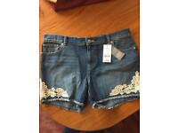 Denim Shorts - Size 14